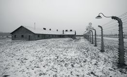 auschwitz χειμώνας birkenau polland Στοκ Εικόνες