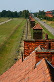 Auschwitz. A fence and guard towers at the death camp Auschwitz, Poland Stock Image