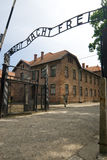 Auschwitz. Main Entrance to Concentration Camp in Auschwitz, Poland royalty free stock photography