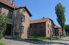 Auschwitz barracks Stock Images