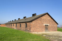 Auschwitz barracks Stock Photo