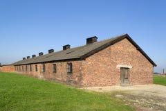 Auschwitz barracks Stock Photo