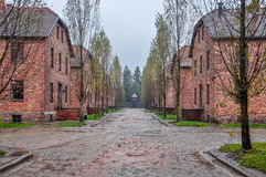 Auschwitz. The barracks in the first camp Stock Images