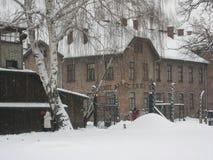 Auschwitz beroemde gateway: HET WERK GEEFT U VRIJ royalty-vrije stock fotografie