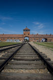 Auschwitz-Birkenau. Camp in Poland. Picture of the a sign indicating block 20 Stock Photo