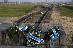 Auschwitz-Birkenau. Railway monument, Poland Stock Images