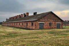 Auschwitz-Birkenau barrack Stock Photos