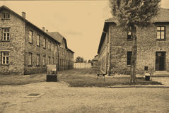 Auschwitz Birkenau camp Royalty Free Stock Photography