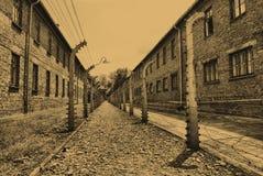 Auschwitz Birkenau camp Stock Photos