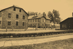 Auschwitz Birkenau camp Stock Photography