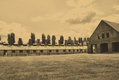 Auschwitz Birkenau camp Stock Photos