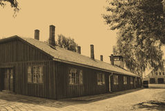 Auschwitz Birkenau camp Royalty Free Stock Image