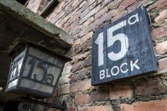 Auschwitz-Birkenau, campo di concentramento nazista tedesco in Polonia Fotografia Stock Libera da Diritti