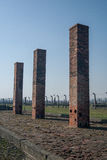 Auschwitz Birkenau - chaminés do crematório Foto de Stock Royalty Free