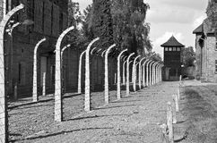 Auschwitz Birkenau concentration camp. Stock Image