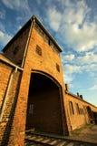 Auschwitz-Birkenau Concentration Camp. Entrance of the Nazi Auschwitz-Birkenau concentration camp Stock Image