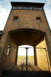 Auschwitz-Birkenau Concentration Camp. Entrance of the Nazi Auschwitz-Birkenau concentration camp Royalty Free Stock Photography