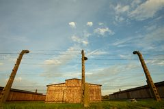 Auschwitz-Birkenau Concentration Camp Royalty Free Stock Photos