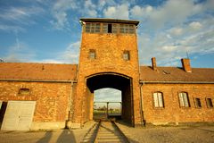 Auschwitz-Birkenau Concentration Camp. Entrance of the Nazi Auschwitz-Birkenau concentration camp Stock Photography