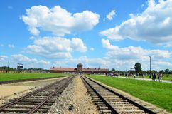 Auschwitz - Birkenau concentration camp Royalty Free Stock Photos