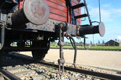 Auschwitz-Birkenau Concentration camp train Royalty Free Stock Images