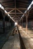Auschwitz Birkenau - dentro das casernas Fotos de Stock