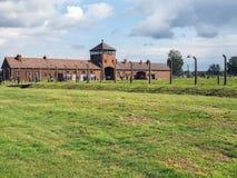 Auschwitz II - Birkenau concentration camp. Auschwitz Birkenau - German Nazi Concentration and Extermination Camp 1940–1945 Stock Photo
