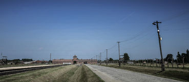 Auschwitz-Birkenau, German Nazi concentration and extermination camp in Poland Stock Images
