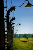 Auschwitz-Birkenau, German Nazi concentration and extermination camp in Poland Stock Photos