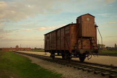 Auschwitz-Birkenau koncentrationsläger Royaltyfri Bild