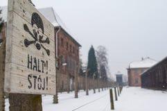 The Auschwitz-Birkenau Museum Royalty Free Stock Photography