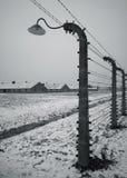 Auschwitz - Birkenau in Polland in de winter Stock Foto