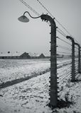 Auschwitz - Birkenau in Polland in winter Stock Photo