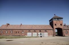 Auschwitz-Birkenau, tysk nazistkoncentration och utrotningen campar i Polen Fotografering för Bildbyråer