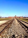 Auschwitz--Birkenaukonzentrationslager Lizenzfreies Stockfoto