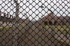 Auschwitz--Birkenaukonzentrationslager Stockbild
