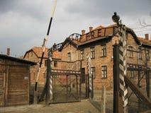 Auschwitz brama Obrazy Royalty Free