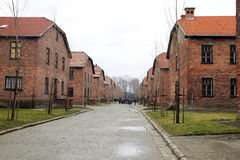 Auschwitz camp. The nazi concentrantion camp of auschwitz in poland Stock Photos