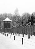 Auschwitz camp, Poland. Auschwitz camp in winter, Poland Stock Image