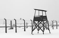 Auschwitz camp, Poland. Auschwitz camp in winter, Poland Stock Photo