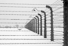 Auschwitz camp, Poland. Auschwitz camp in winter, Poland Royalty Free Stock Photography