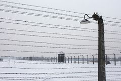 Auschwitz camp, Poland Royalty Free Stock Images