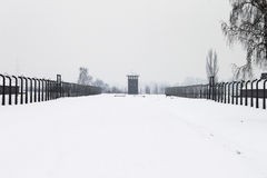 Auschwitz camp, Poland. Auschwitz concentration camp was a network of Nazi concentration and extermination camps built and operated by the Third Reich in Polish Royalty Free Stock Photos