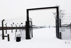 Auschwitz camp, Poland. Auschwitz concentration camp was a network of Nazi concentration and extermination camps built and operated by the Third Reich in Polish Stock Photo
