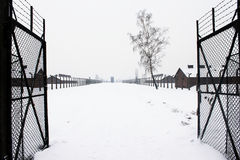 Auschwitz camp, Poland. Auschwitz concentration camp was a network of Nazi concentration and extermination camps built and operated by the Third Reich in Polish Stock Photos