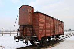 Auschwitz carriage Royalty Free Stock Photography