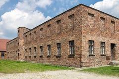 Auschwitz Concentration Camp. Barracks, south of Poland Stock Photos