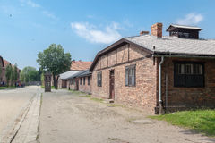 Auschwitz Concentration Camp. Barracks, south of Poland Stock Photo
