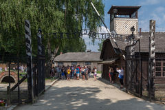 Auschwitz Concentration Camp. Barracks, south of Poland Stock Image