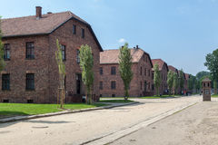 Auschwitz Concentration Camp. Barracks, south of Poland Stock Images